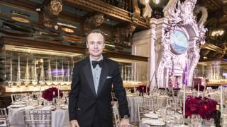 Ernesto Bertarelli, 51 nella sala dei modelli del New York Yacht Club. BORLENGHI