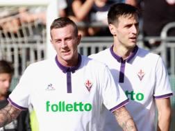 Da sinistra, Federico Bernardeschi, 22 anni, e Nikola Kalinic, 28, attaccanti della Fiorentina. GettyImages