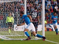 Nikola Maksimovic esulta dopo il gol dello 0-2. Getty Images