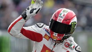 Marco Simoncelli, scomparso nel 2011 nel GP della Malesia. Epa