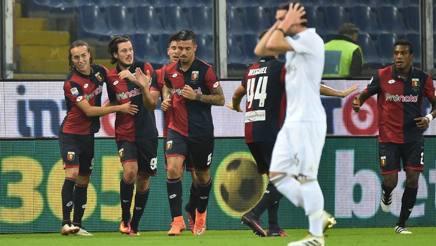 L'esultanza di Nikola Ninkovic, al primo gol in A. Afp