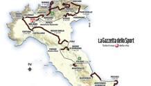 Un dettaglio della planimetria complessiva del Giro 2017