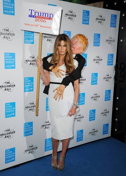 La giornalista Jemima Khan all'Halloween Ball di Londra (Getty Images)