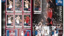 La pagina dei Clippers dall'album Nba. Panini