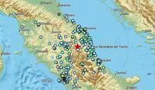 Una prima mappa delle zone colpite dal sisma delle 19.11