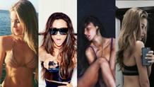 Da sinistra, Helen Svedin, Victoria Beckham, Chiara Biasi e Viky Varga. Instagram