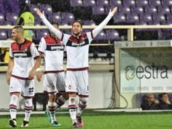 Falcinelli esulta dopo il gol Ansa