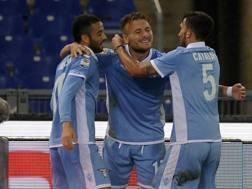 Festa Lazio con Immobile, Anderson e Cataldi. Getty