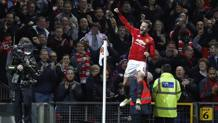 Mata esulta a Old Trafford. Reuters