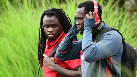 Jordan e Romelu Lukaku assieme nel Belgio. Afp