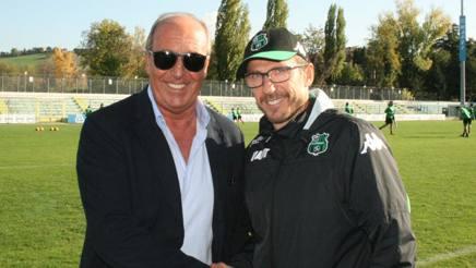 Giampiero Ventura in visita al club neroverde stringe la mano a Di Francesco SASSUOLO CALCIO