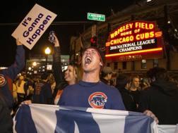 La gioia dei tifosi dei Chicago Cubs