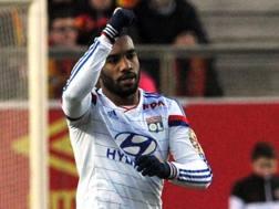 Alexandre Lacazette, 25 anni, attaccante francese del Lione. Afp