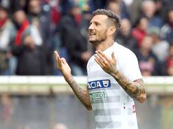 Cyril Thereau, attaccante dell'Udinese. Lapresse