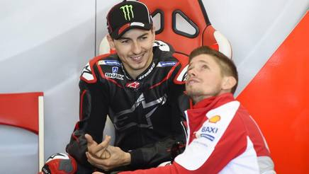 Jorge Lorenzo, alla prima in Ducati, con Casey Stoner. Ciam-Cast