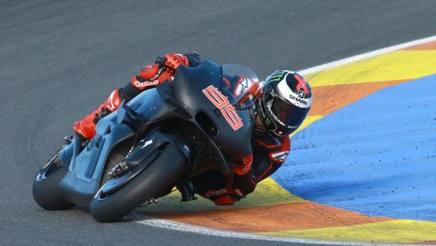 Jorge Lorenzo alla prima presa di contatto con la Ducati