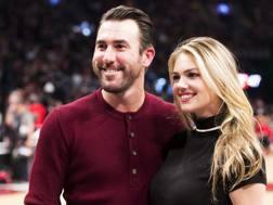 Justin Verlander, 33 anni, lanciatore dei Detroit Tigers e la fidanzata Kate Upton, 24, modella a attrice. Ap