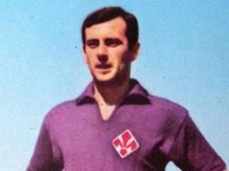 Eraldo Mancin con la maglia della Fiorentina
