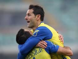 L'esultanza di Gobbi dopo il gol. Getty Images