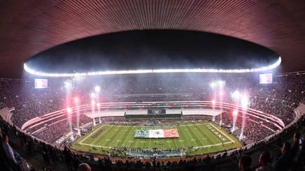 Una panoramica dello stadio Azteca dove si sono affrontate Oakland e Houston. Reuters