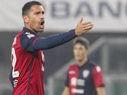 Marco Borriello, attaccante napoletano del Cagliari. Ansa