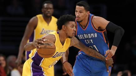 Nba, LA Lakers-Thunder 111-109, Knicks-Blazers 107-103