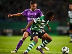 Martins in azione in Champions contro il Real Madrid. Afp