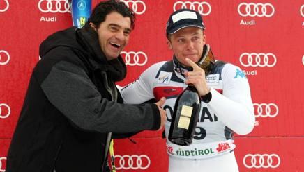 Alberto Tomba e Massimiliano Blardone, due grandi protagonisti azzurri sulla Gran Risa. IPP