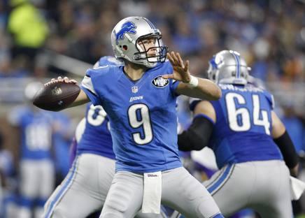 Matt Stafford, 28 anni, quarterback dei Detroit Lions, ieri contro Minnesota. Reuters