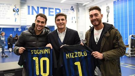 Fognini in versione tifoso dell'Inter