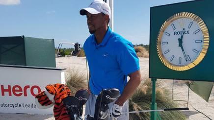 Tiger Woods va ad allenarsi al Nassau's Albany Club alle Bahamas. Afp