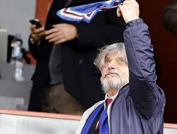 Massimo Ferrero, numero uno della Sampdoria. LaPresse