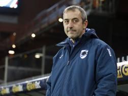 Il tecnico della Sampdoria Marco Giampaolo. LaPresse