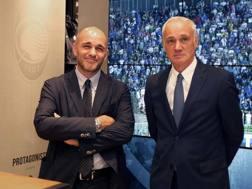 Da sinistra Luca Percassi, 36, e suo padre, Antonio Percassi, 63, presidente dell'Atalanta. Magni-Getty
