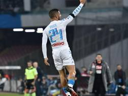 Lorenzo Insigne, 25 anni, festeggia il gol contro l'Inter. LaPresse