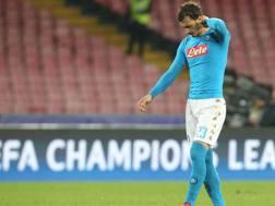 L'attaccante del Napoli Manolo Gabbiadini, 25 anni. Afp