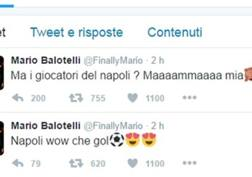 I tweet sul Napoli di Mario Balotelli