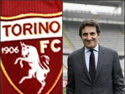 Il simbolo granata e il presidente del Torino Urbano Cairo