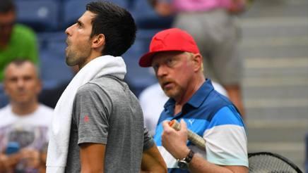 Novak Djokovic e Boris Becker
