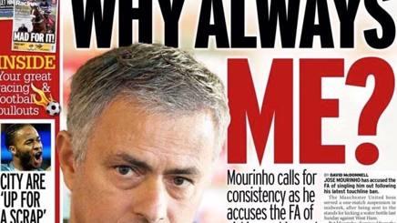 La prima pagina del Mirror Sport