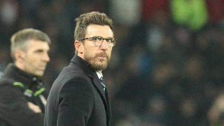 Eusebio Di Francesco, tecnico del Sassuolo. Afp
