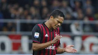 carlos Bacca, 30 anni, attaccante colombiano del Milan. LaPresse