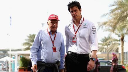 Niki Lauda con Toto Wolff. Getty