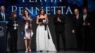 Flavia Pennetta, 34 anni, donna dell'anno ai Gazzetta Sports Awards 2015. Lapresse