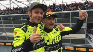 Valentino Rossi col navigatore Cassina