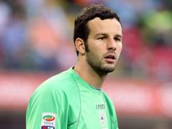 Samir Handanovic, 32 anni, portiere sloveno dell'Inter. Forte