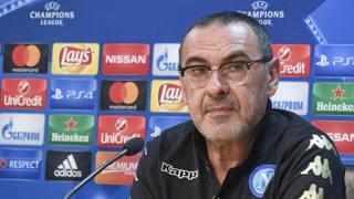 Maurizio Sarri, 57 anni, allenatore del Napoli. Ansa
