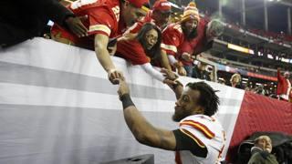 Eric Berry, 27 anni, tornato nella sua Atlanta e decisivo nella vittoria dei Chiefs con due intercetti REUTERS