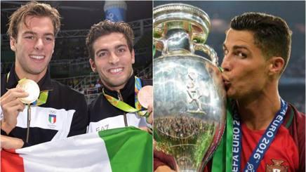 Gregorio Paltrinieri, 22 anni, Gabriele Detti, 22, e Cristiano Ronaldo, 31.
