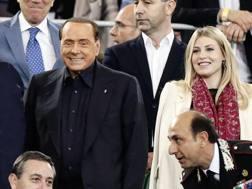 Silvio Berlusconi e Barbara Berlusconi. Ansa